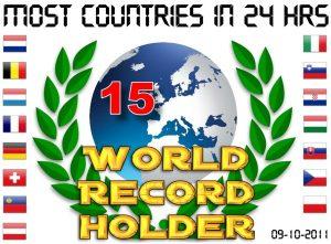 Worldrecord: 15 countries in 24 hours